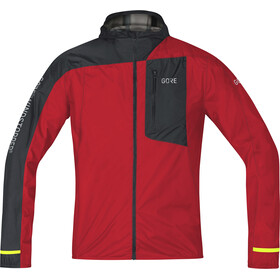 GORE WEAR R7 Windstopper Light Hooded Jacket Men red/black